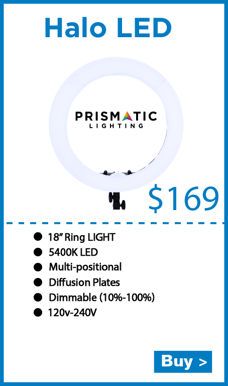 Prismatic Halo LED Dimmable Ring Light