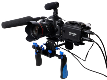 DR-60DmkII with DSLR Rig